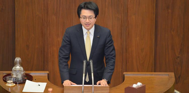 北海道議会にて